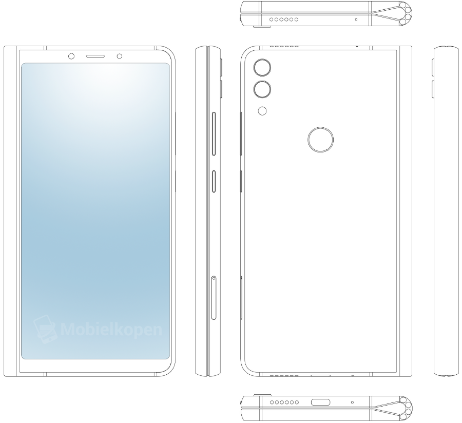 Two patent applications show designs not just for a foldable phone, but one with a screen that wraps around three sides of the device.