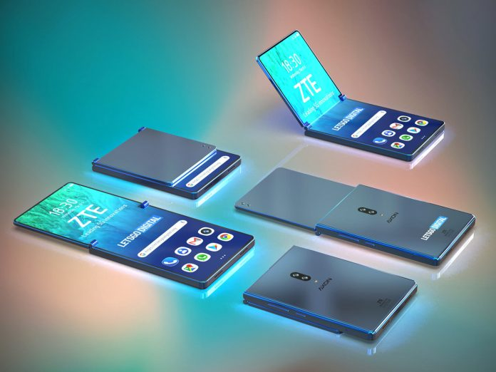 Renders for ZTE foldable clamshell smartphone are strangely reminiscent of the Game Boy Advance SP