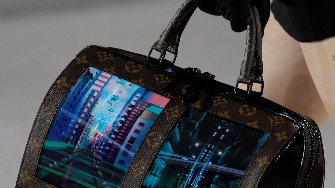 Foldable smartphones, rollup TVs, and now a handbag. Louis Vuitton & Royole
