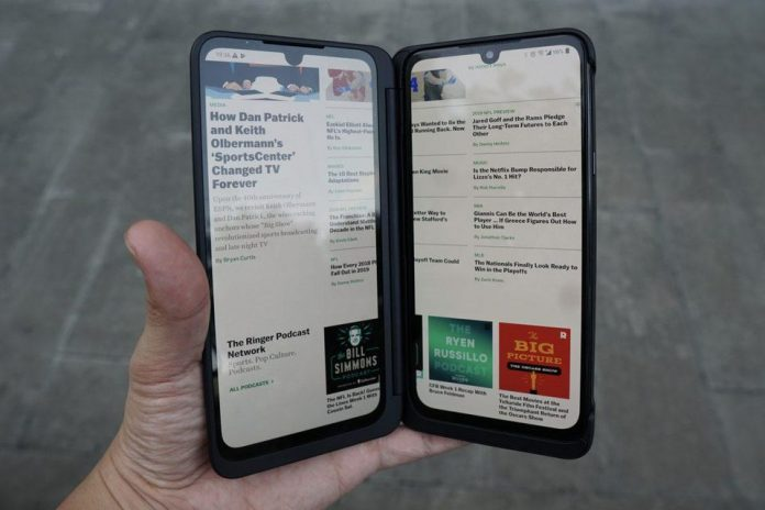 The LG G8X Dual Screen. BEN SIN