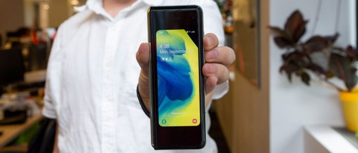 Samsung's first foldable phone is in-hand – again